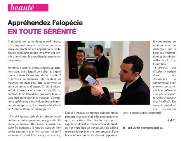 1 ère Parution presse dans le journal du mois de mai de Neuilly sur Seine